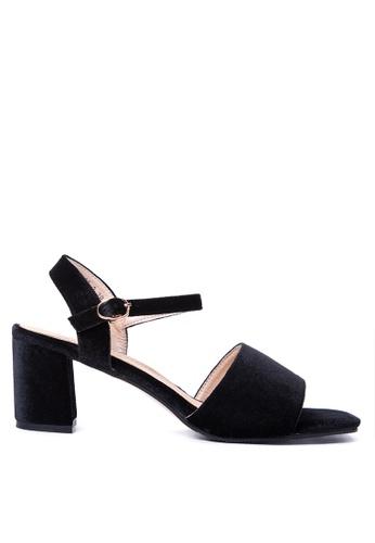 Susto The Label black Pergine Block Sandals 61B03SH397D46BGS_1