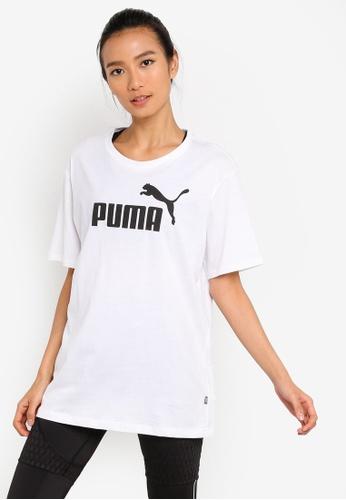 Puma white Sportstyle Core ESS+ Logo Boyfriend Tee 3A5C8AA77B0C4CGS_1