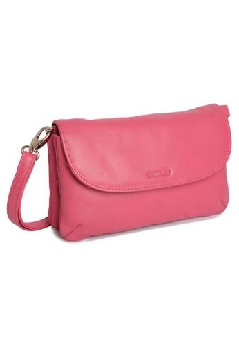 SADDLER pink SADDLER Womens Leather Cross Body Purse Clutch -Detachable Strap -Ladies Sling Bag - Fuchsia 42879AC2E4CDEBGS_1