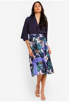 f85796a1547 60% OFF CLOSET Lapel Wrap A-Line Dress RM 489.00 NOW RM 195.90 Sizes 8 10  12 14 16