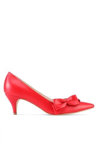 ZALORA red Kitten Heels with Bow C7B1BSHC9BD2B0GS_1