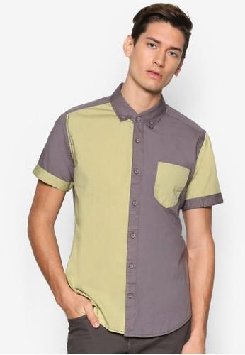 拼色短袖襯衫, 服飾,esprit 手錶 襯衫