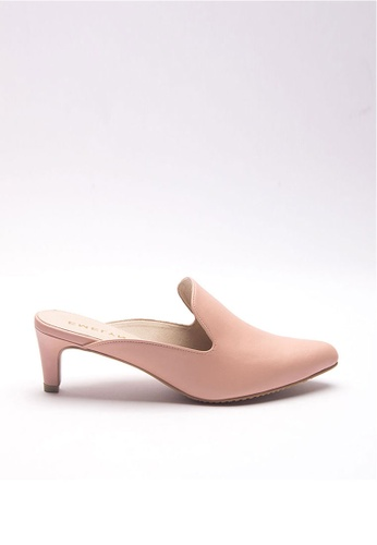Emelyn beige Justine Slip On Heels 17CE1SHE3B5FDCGS_1