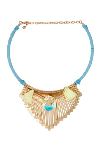 Jaysa Collection gold Ocean Paradise Necklace JA875AC0GWSXSG_1
