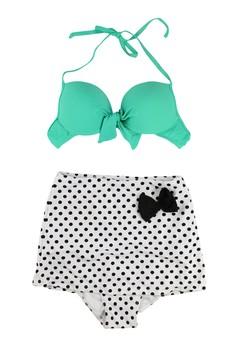 Vintage Bow Polka High Waisted Bikini