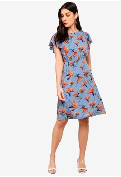 513c326b700 30% OFF ZALORA Ruffles Dress S  39.90 NOW S  27.90 Sizes XS S M L XL