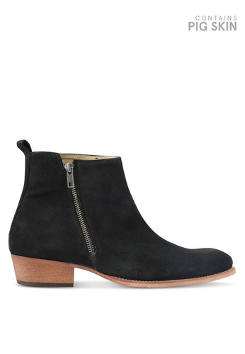 Topman black South Zip Boots TO413SH0T1JBMY_1
