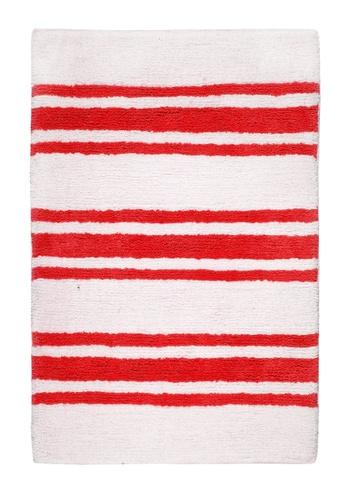 Living DNA Stripe Red Bath Carpet 1DE41HLBE7F60FGS_1