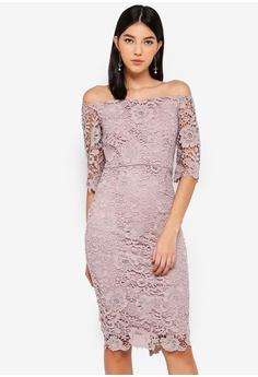 ea771c10fef6 Paper Dolls pink Mink Bardot Dress 671F9AAB3D732FGS 1