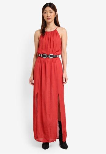 Something Borrowed red High Slit Maxi Dress F5D22AAB12CD97GS_1