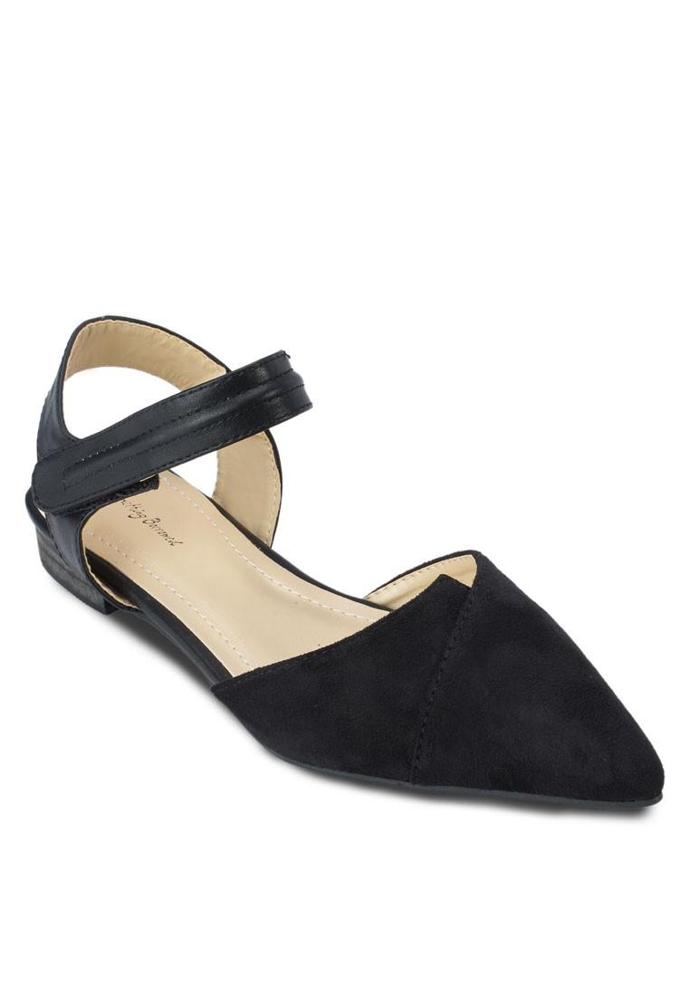 Color Block Ankle Flats