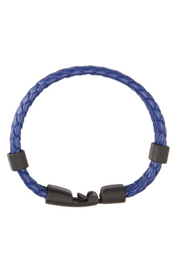 三層撞色編織皮革esprit 鞋手環, 飾品配件, 手環