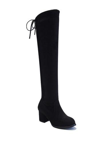 Twenty Eight Shoes 黑色 VANSA 6cm 高跟過膝靴 VSW-B3365 80DAASHB42CBE7GS_1