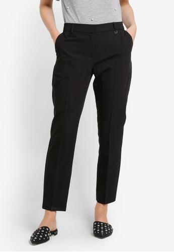 Dorothy Perkins black Short Fob Trim Slim Leg Trousers DO816AA0RA73MY_1