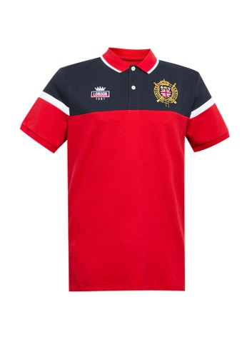 Giordano red Men's Union Jack Polo A171FAA9537B05GS_1