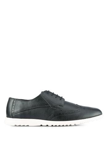 ZALORA black Faux Leather Sporty Dress Shoe BD1FASHFCEA3C1GS_1