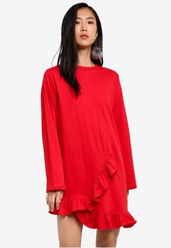 Stylenanda red Frill Dress ST343AA0RV8MMY_1