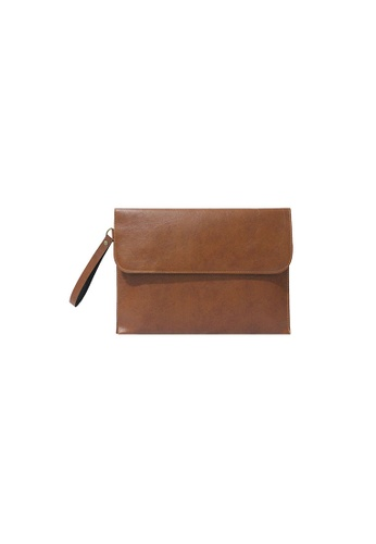 Knocks brown Brighton Clutch (Light Brown) KN307AC11WYYSG_1