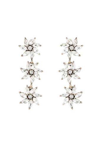 Red's Revenge white Cascading Glass Gems Statement Earrings 309C2ACB281D88GS_1