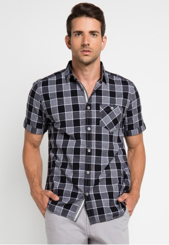Watchout! Jeans black Short Sleeve With Collar WA971AA0UIU4ID_1