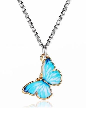 Glamorbit blue Butterfly Light Blue Necklace FBDDFAC1F6DAD6GS_1