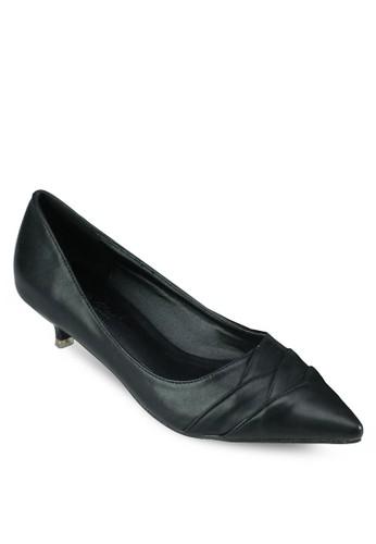 尖esprit童裝門市頭細跟低跟鞋, 女鞋, 鞋