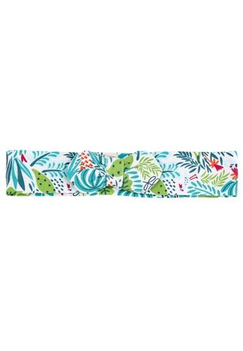 Du Pareil Au Même (DPAM) white Printed Bow Hairband 2819BKCB2BDC54GS_1