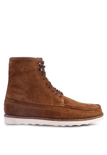 Burton Menswear London brown Brown Leather Devon High E3270SH065D053GS_1