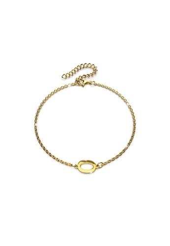 Bullion Gold gold BULLION GOLD Bold Alphabet Letter Initial Charm Bracelet in Gold Tone - O 8E96DAC5895BE1GS_1