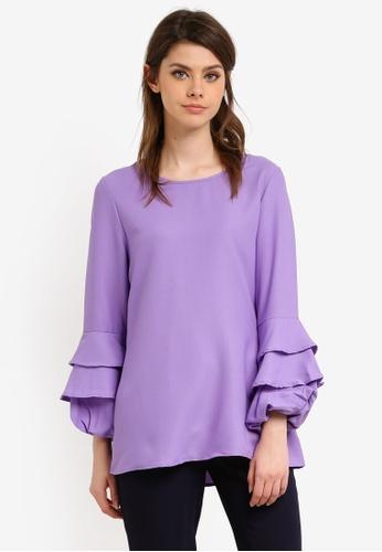 BYN purple Muslimah Blouse BY059AA0S0Y0MY_1