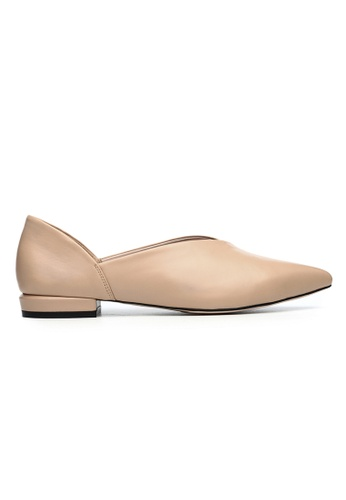Byford beige Dovey - Pointed toe paneled flats 6F9ECSH7755675GS_1