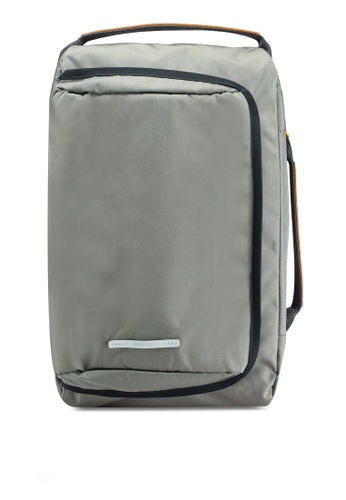 "Rawrow beige Square 2Way Original 114 Cordura 15"" Backpack DB390AC2759511GS_1"