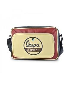 Vespa Servizio Printed Messenger Bag