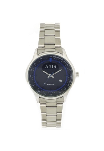 Axis black and silver Stainless Steel Strap Watch AE1273-0104 AX644AC16MVFPH_1
