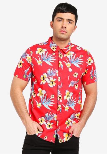 Cotton On 紅色 短袖口袋襯衫 42C04AA1ADDD8EGS_1