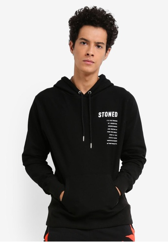 Stoned & Co black Stoned Squad Hoodie 85E42AAD55D74CGS_1