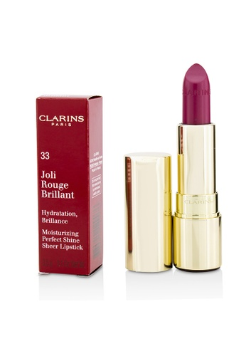 CLARINS CLARINS - 脣膏 Joli Rouge Brillant (Moisturizing Perfect Shine Sheer Lipstick) - # 33 Soft Plum 3.5g/0.1oz 0F6C1BE0EAEFEEGS_1