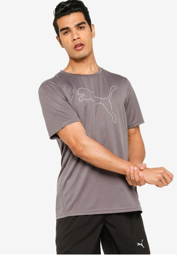 Puma grey Performance Cat Men's Training Tee 40497AAB62613AGS_1