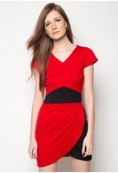 Ayanna Two Tone Bodycon Dress