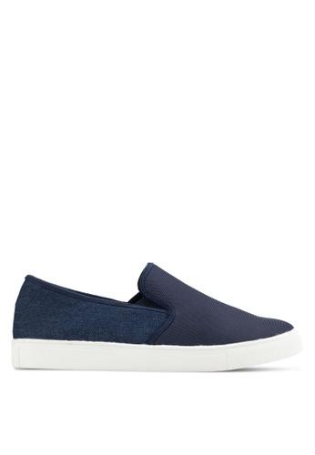 UniqTee blue Neoprene Slip-On Sneakers UN097SH85INAMY_1