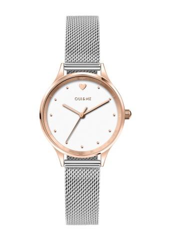Oui & Me silver OUI&ME Minette Quartz Watch Silver Metal Band Strap ME010169 2F6ECAC5FE2311GS_1