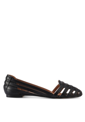 ZALORA black Weaved Flats DE10ASHF046BBAGS_1