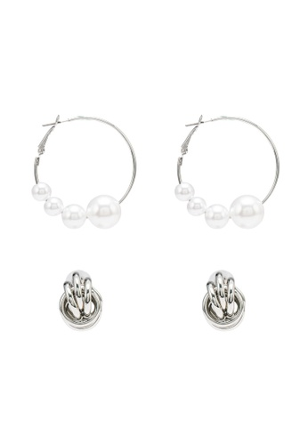 Red's Revenge silver 2-in-1 Chic Essentials Earrings Set AC2ADAC9897D9BGS_1