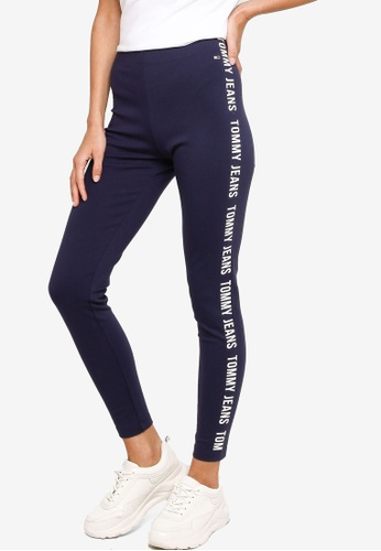Tommy Hilfiger navy Skinny Tape Leggings - Tommy Jeans 5F3CAAA0A94C89GS_1
