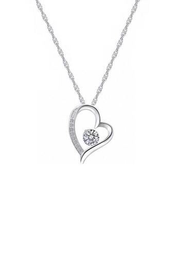 ADORA silver Swarovski Heart Pendant  Necklace DA534ACB936FA8GS_1