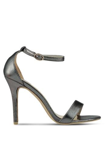 Glamorous 灰色 金屬感繞帶高跟鞋 05ECBSHA7B16C7GS_1