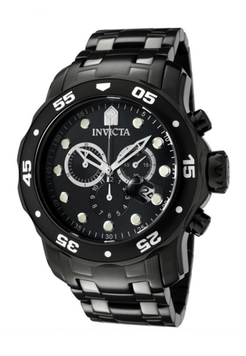 Invicta black Pro Diver IN0076 IP Black Stainless Steel Men Watch IN456AC0RJ48MY_1