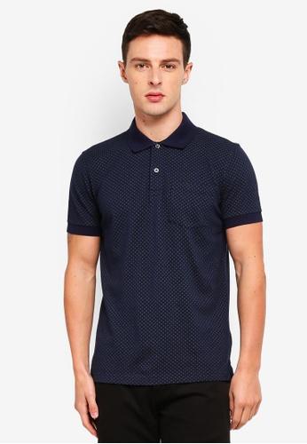 Brooks Brothers 海軍藍色 印花POLO衫 EC4DEAAC06FF1BGS_1