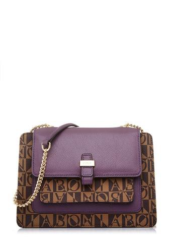 BONIA purple Iron Monogram Annelise Crossbody Bag M 13B99AC413C278GS_1