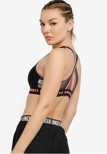 Under Armour black Mid Crossback 80s Sports Bra 197FAUS03A58C3GS_1